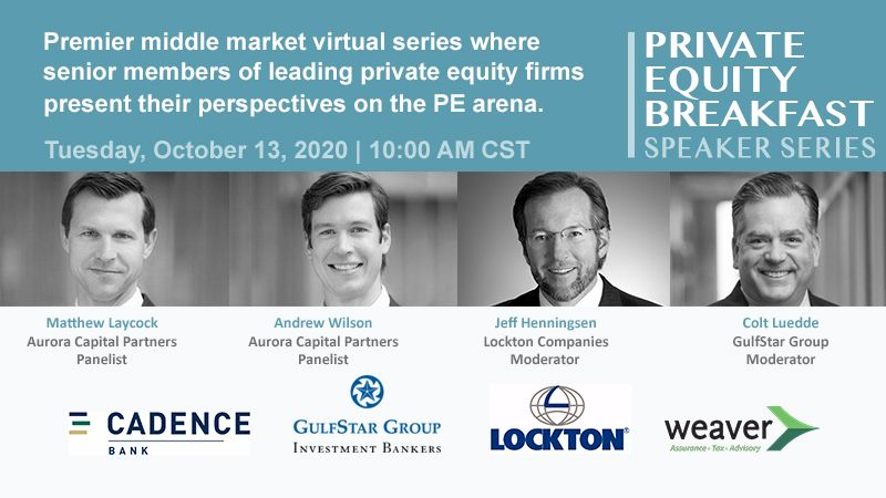 Private Equity Breakfast Speaker Series